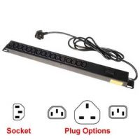 24 Way, 10 Amp, Vertical Rack Mount Power Strips