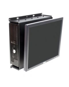 Front view - Dell 780 SFF Wall Mount - shown with PC & monitor
