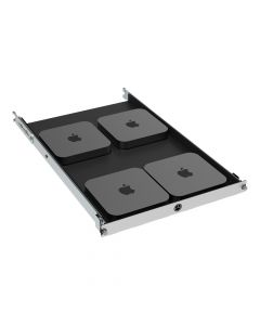 1U Rack Mount Shelf for Apple Mac Mini (3rd and 4th Generation)