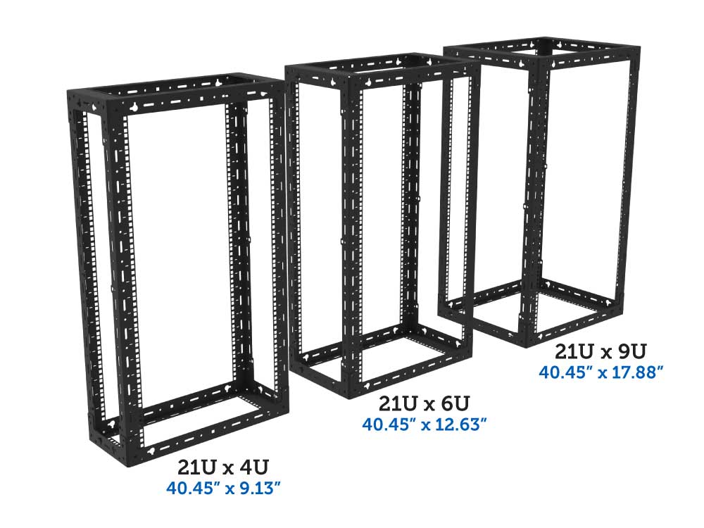 21U x 4u, 6u, 9u wall mount rack